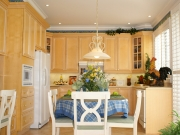 Echtholzküche in U-Form