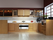 Moderne Echtholzeinbaukücheküche