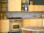 Stilvolle Einbauechtholzküche