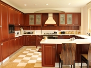 G-Form Küche aus Echtholz