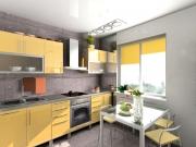 Offene Wohnküche mit Edelstahlakzenten