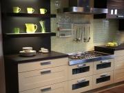 Stilvolle einzeilige Küche