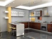 Moderne Einbauküche mit Küchenhalbinsel
