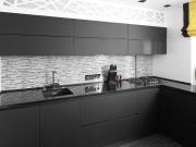 Luxuriöse L-Formküche in Schwarz