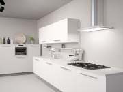 Moderne L-Formküche im Einbaustil