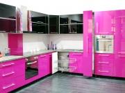 Moderne Pinke Hochglanzeinbauküche