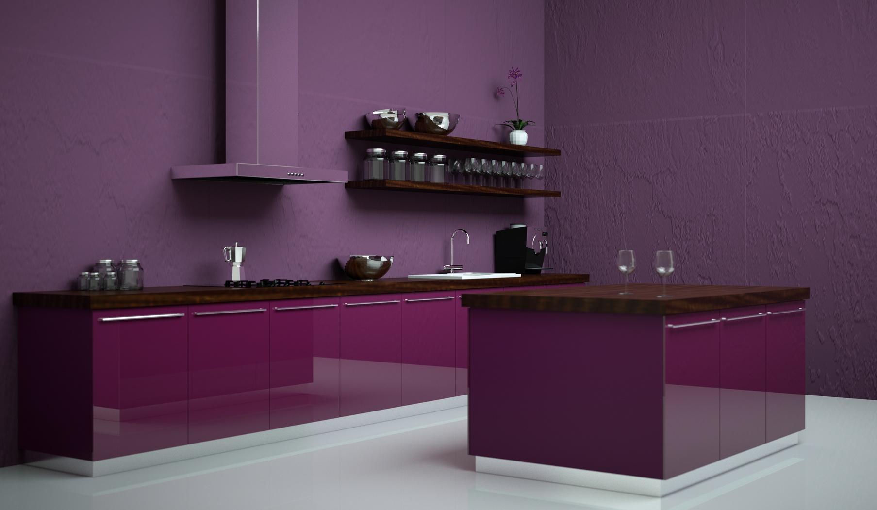 Beeindruckend Pinke Küche Beste Wahl Zweizeilige Hochglanzküche In Pink