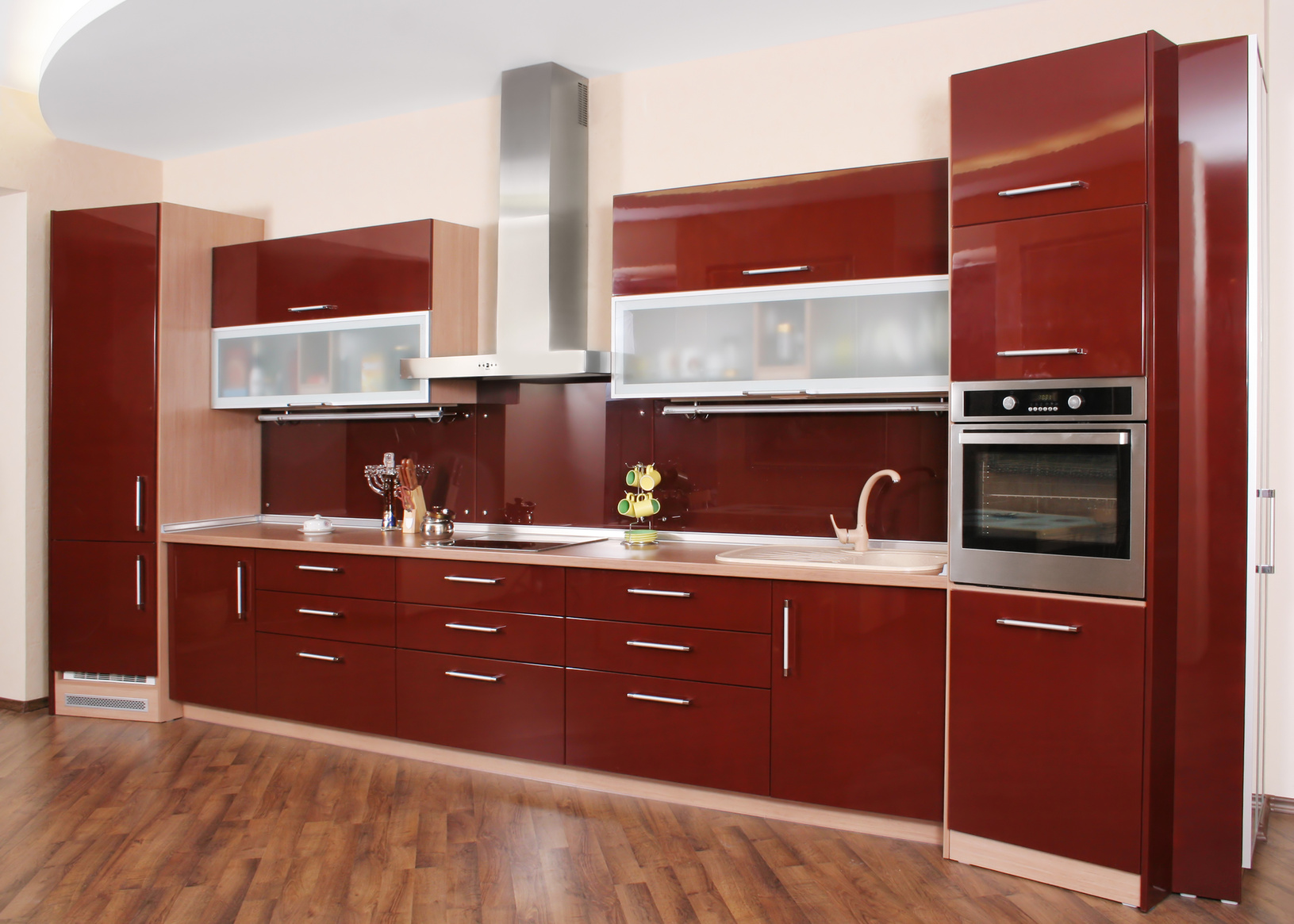 nobilia kuche rot hochglanz ~ kreative deko-ideen und innenarchitektur - Hochglanz Küche Rot