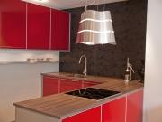 Klassische offene Wohnküche in L-Form