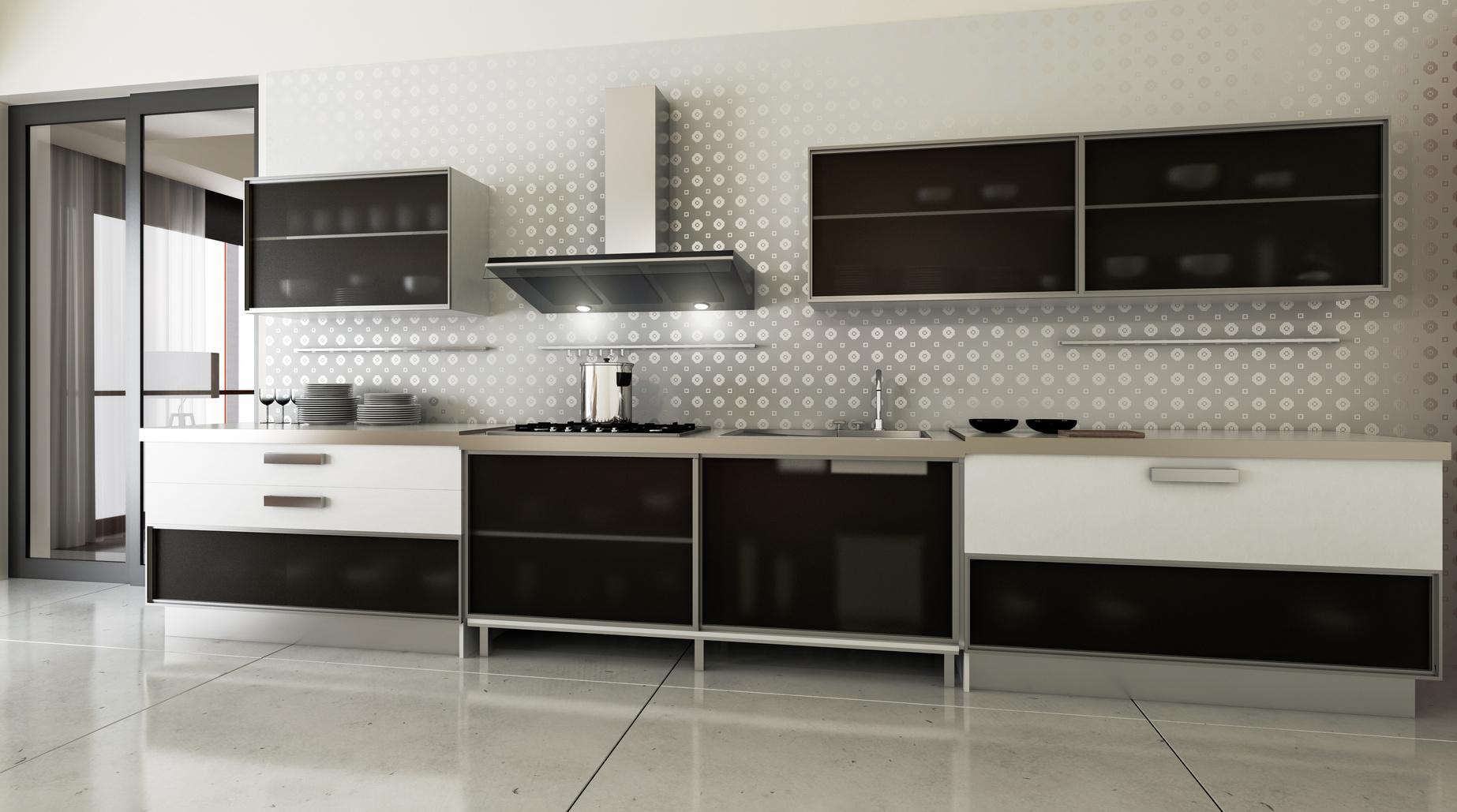 Moderne Einzeilige Küche In Elegantem Desgin · Einbauküche