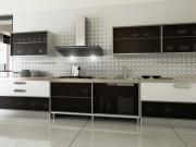 Moderne einzeilige Küche in elegantem Desgin