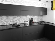 Klassische L-Formküche im modernen exklusiven Stil
