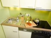Moderne Singleeinbauküche mit Kochfeld