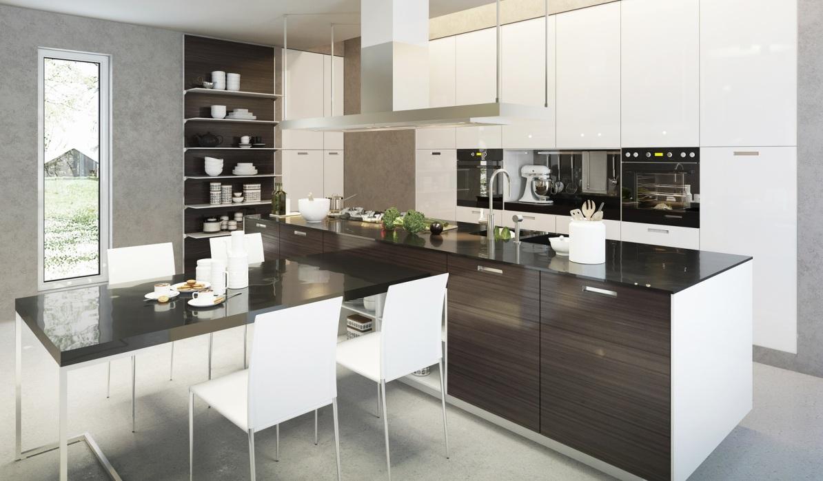 Die Küche mit Halbinsel - platzsparend und multifunktionell