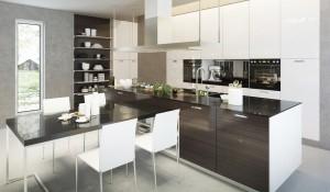 Einbauküche elegant modern