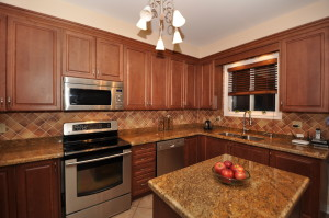L-Form Küche Holz