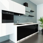 einzeilige Küche hochglanz modern