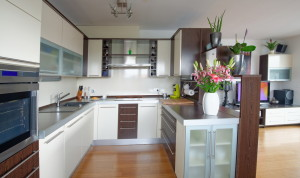 moderne G-Form Küche