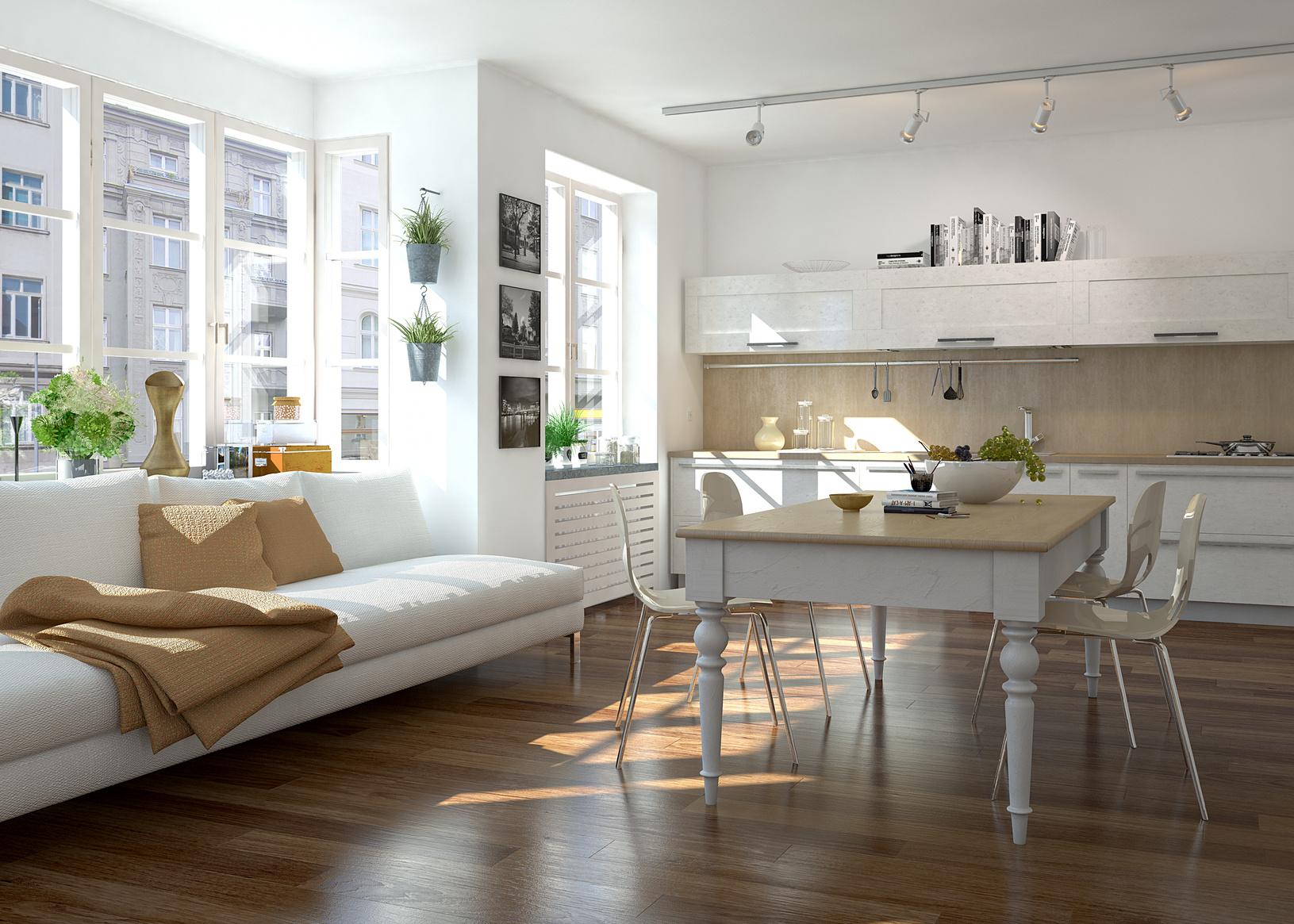 Die offene k che wohnk che auf k for Wohnung einrichten modern