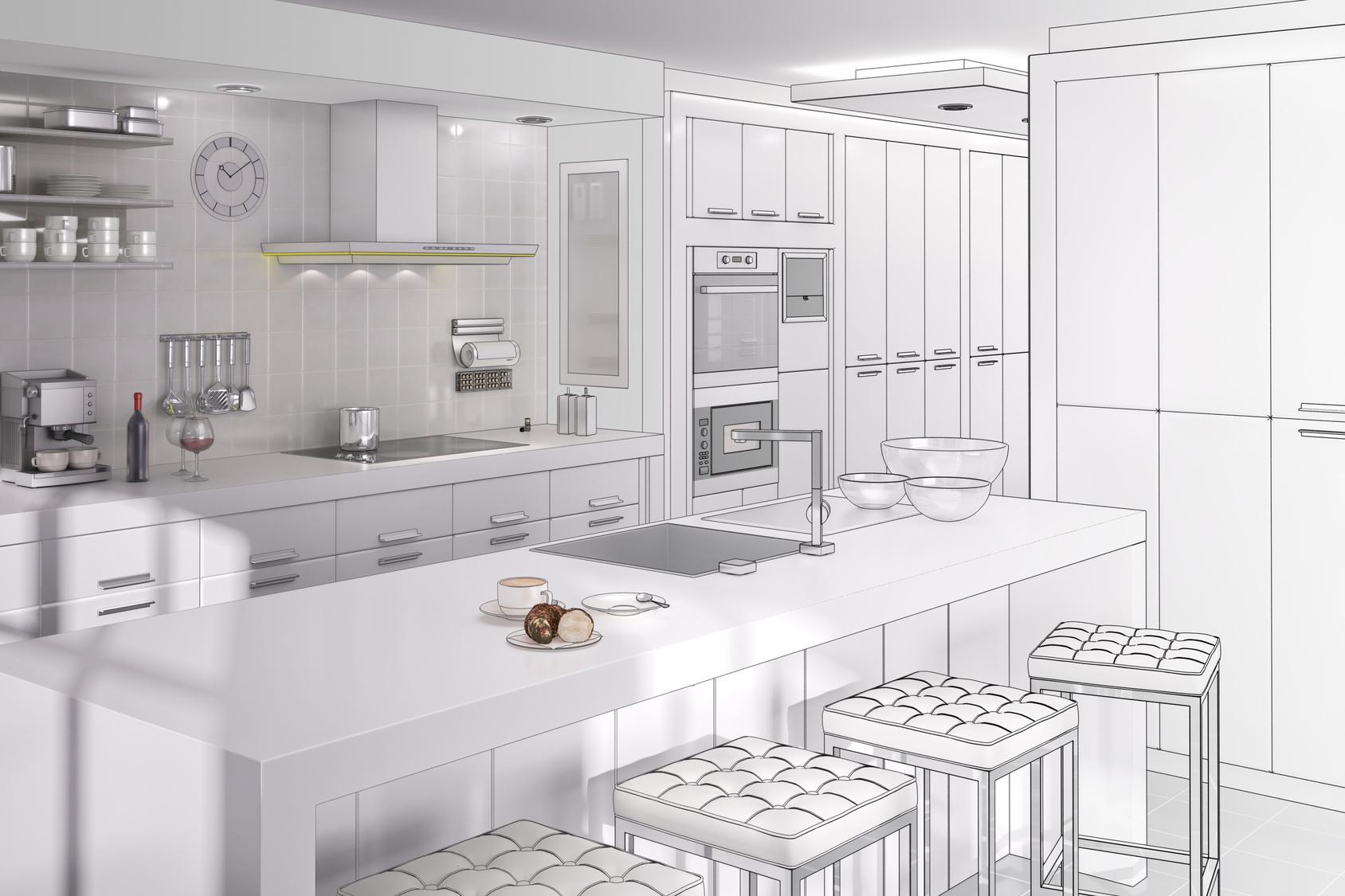 k che und design darauf sollte man bei der planung achten. Black Bedroom Furniture Sets. Home Design Ideas