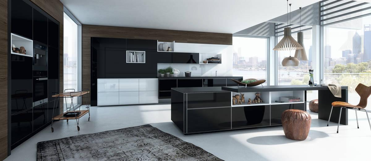 die luxusk che auf k. Black Bedroom Furniture Sets. Home Design Ideas